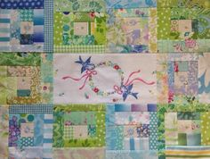 When Life hands you scraps, make some quiltey-goodness.   ~me~           Sew, Gizmo decided to help me quilt another UFO whimsy thi...