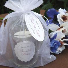 Coffee Bean Candle Wedding Favors