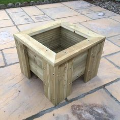 Handmade Wooden Square Planter