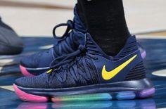5153d59b0c9 The Nike KD 10 Be True Made Its Way Onto The Hardwood Nike Basketball Shoes