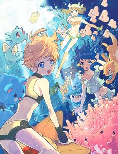 Pokemon:: Ocean Princesses by kissai.deviantart.com on @deviantART
