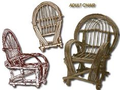 Adult rustic willow furniture - How to make Willow Furniture Ebook