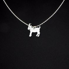 Goat Necklace Sterling Silver by McLaughlinCreations on Etsy