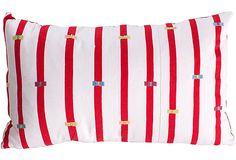 Red Stripe Chiapas Pillow