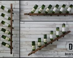 Black Iron Pipe Wine Rack by DesignDistressed on Etsy