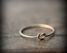 $79.76 Knot ring - recycled solid 14K yellow gold ring