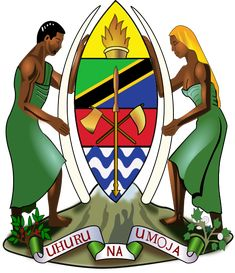 #Tanzania's Coat of Arms | #heraldry Car Bumper Stickers, Public Service, Coat Of Arms, Tanzania, Good News, Regional, Ministry, Decals, The Unit