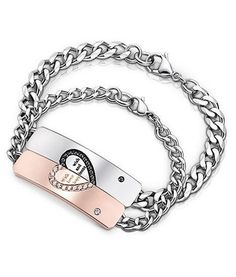 BALMORA 1 Piece Romantic Love Jewelry Titanium Steel Laser Engraving Bracelets for Women Men Lovers Customize Logo Couple Bracelets, Id Bracelets, Bangles, Diy Id Bracelet, Stainless Steel Bracelet, Cool Gifts, 1 Piece, Valentine Gifts, Jewelery