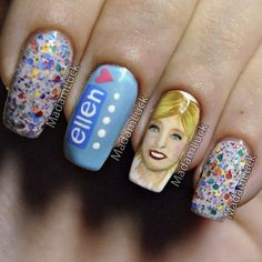 The Ellen Show Nails. yes PLEASE!