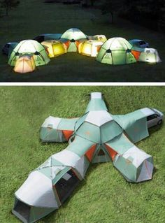 Ultimate Camping Tent WOAH Yes...friends campout