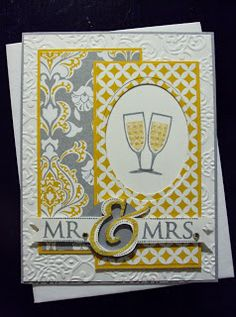 Stampin Up DSP Eastern Elegance and Stamp set Happy Hour meet to make the  perfect union. LOL