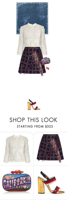 """""""Untitled #3354"""" by wizmurphy ❤ liked on Polyvore featuring Vanessa Bruno, Cynthia Rowley, Sarah's Bag, Gucci, Lizzie Fortunato and gucci"""