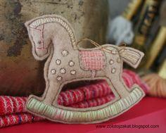 Край золотого заката: Лошадка из фетра