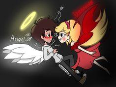 Day 1: Angel and Demon by WeatherArt.deviantart.com on @DeviantArt
