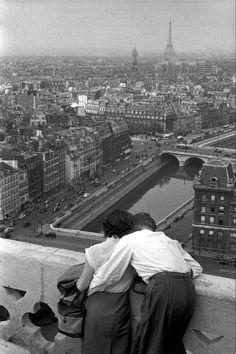 vintage couple in paris