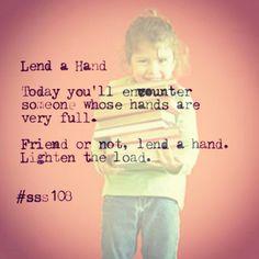 Lend a hand... #sss108