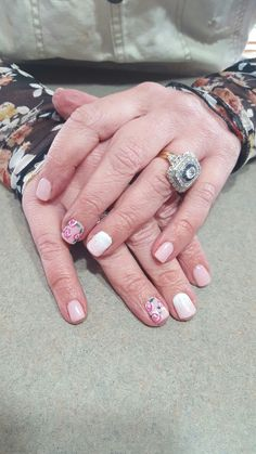 Beautiful elegant spring nails.  Done  by one of our talented Certified Bio Sculpture Nail Tech Anita!