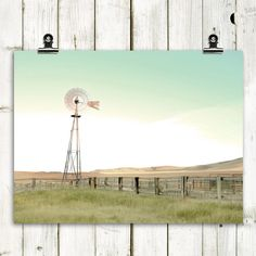 landscape photography windmill country decor by MTPhotoJournal, $20.00