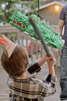 Crocodile Pinata. It would be awesome if there were watches inside along with the candy. :)