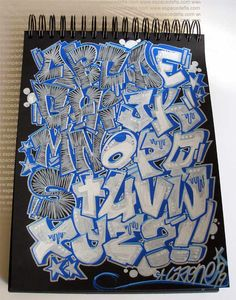 graffiti letters | How to Draw Sketch Alphabet in Graffiti Letters
