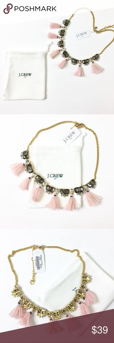 "J. Crew Tassel Necklace + Dust Bag Spice up any outfit with this gorgeous J. Crew necklace. 18"" with 3"" extender. Retail $59.50. J. Crew Jewelry Necklaces"