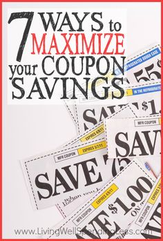 Want to save more at the grocery store with extreme couponing? Don't miss these 7 simple and tangible steps for maximizing your coupon savings.