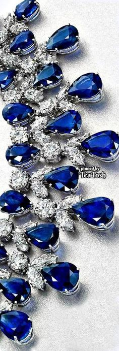 ❇Téa Tosh❇ Sapphire & Diamond Necklace
