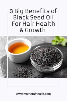 Black Seed Oil has been used for thousands of years in Ayurveda for its health and skin benefits. Made from the black seeds of the Nigella Sativa plant to treat diabetes, hypertension, weight loss, and asthma. But one of the most recommended benefits of black seed oil is for hair growth and a healthy scalp. Her's the 3 big benefits of black seed oil for hair health. #blackseedoil #growhair #hairfall #blackseedoilbenefits Postpartum Diet, Postpartum Recovery, Ayurvedic Herbs, Ayurveda, Herbs For Health, Health And Wellness, Benefits Of Black Seed, Breastfeeding Problems, Nigella Sativa