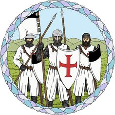 SOLD 7/17/2017 through Redbubble to a customer in the US: 1x Sticker of Knights Templar.  #Redbubble #sold #sticker #Knights_Templar #Templars #medieval_knights  #crusader_knights #crusaders #knights
