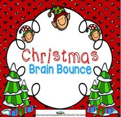 This great Holidays around the World vocabulary game from SOL Train Learning is based on words from the December calendar. It is the very first of our new Brain Bounce games to help your kids practice ELA and Math skills. You can also use these cards in a center or as a Scoot game.  Included: -31 Cards -Directions to Brain Bounce -Recording and Answer sheets  $  #Vocabulary#Holidays#Christmas Around the World#TPT