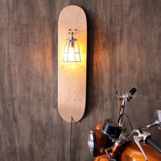 Shane, we can do this with any board.  Skate Sconce Repurposed Skateboard Light Industrial by weareMFEO