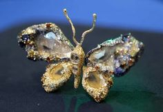 A close-up of jewelry artist Cindy Chao's Black Label Masterpiece Royal Butterfly Brooch that's been accessioned into the Smithsonian's National Museum of Natural History on March 5, 2013 in Washington, DC.