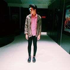 H&M Classic Parka, Topman Spray On Skinny Jeans, Dr. Martens Classic Doc Martens