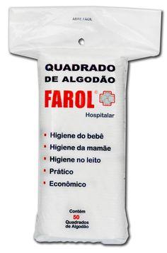 Quadrado de Algodão Hidrófilo FAROL Hospitalar 50 unid.
