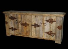 Distressed Wood Sideboard - Childress Old World Furniture - CO1017SRI - Childress Old World Furniture