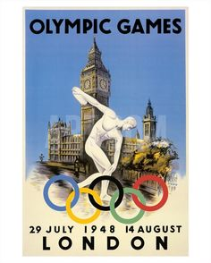 XIV Olympic Summer Games, London, England, July 29 to August 14, 1948 Giclee…