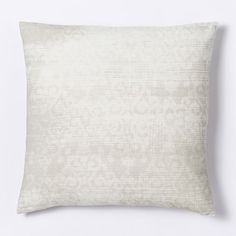 $24 pillow cover 20 inch Velvet Scroll Pillow Cover - Ivory | west elm