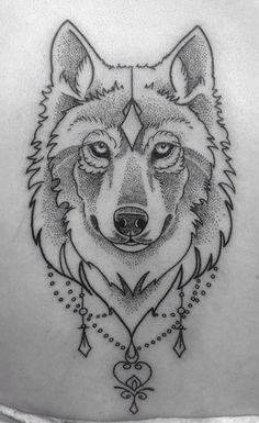 Wolf tattoo • Dot work • #tattoo #wolf #dotwork Tattoo by Kitty Foster• Arkham Tattoo• Oxford•