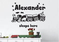 Kids Personalised Sticker - Train set for sale on Trade Me, New Zealand's auction and classifieds website How To Remove, How To Apply, Kids Bedroom, Bedroom Ideas, Personalized Stickers, Train Set, Home And Living, Wall Art, Wall Decor