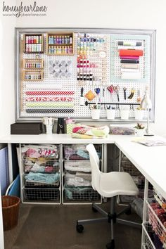 FANTASTIC crafting space for a small home {DIY} @Heidi Haugen Haugen Haugen Haugen Haugen Ferguson