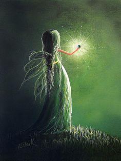 Emerald Fairy By Shawna Erback Print By Shawna Erback