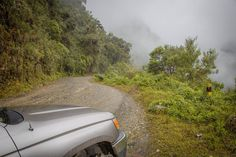 The cloud set in for our drive along Bolivia's 'death road'.