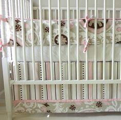 Sweet Bella Pink Crib baby bedding. by babymilanbedding on Etsy, $350.00