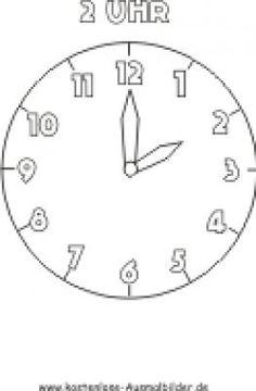 17 En Iyi Uhr Ausmalbilder Görüntüsü Clocks Preschool Ve Kindergarten