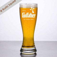 Godfather Beer Glass Godfather Glass Godfather by RusticSquare