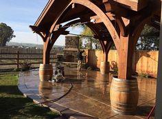 What an outdoor porch for a little wine...  @ridgecrestdesign