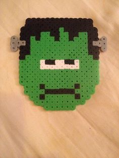 Frankenstein Perler Bead Art by ThePinkTurtleLady