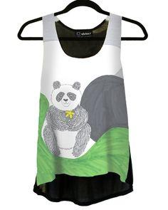 Panda With Daffodil Top - Vividly