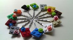 LEGO Hair Clip, Bobby Pin, Barrett, Accessory, LEGO Friends Party Favor on Etsy, $1.00