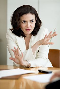 Sheryl Sandberg has 3 pieces of advice for women on the way as she discusses why there are too few women leaders: (1) sit at the table, (2) make your partner a real partner, and (3) don't leave before you leave.